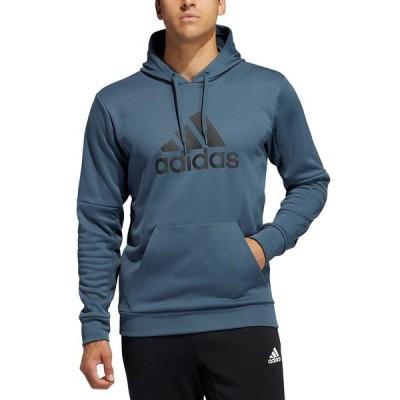 アディダス パーカー・スウェットシャツ アウター メンズ Men's Badge of Sport Game and Go Pullover Hoodie Legacy Blue