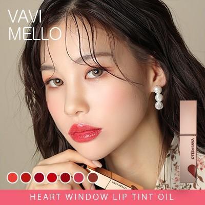 [バビメロ] リップティント 5カラー リップグロス ティント VAVI MELLO heart window lip tint oil  潤うリップ 口紅 💋デーリーメイク - 6883J