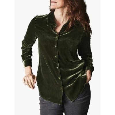 ピュアコレクション シャツ レディース トップス Pure Collection Silk Velvet Shirt