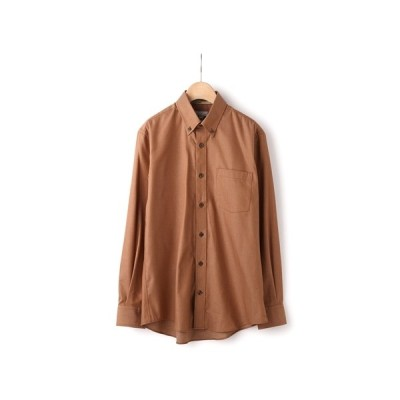 秋冬用 ブラウン系 ボタンダウンカジュアルシャツ【JAPAN FABRIC】 YUKI TORII HOMME