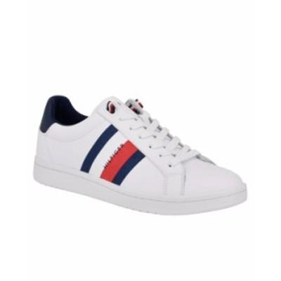 トミー ヒルフィガー メンズ スニーカー シューズ Men's Lectern Sneakers White Navy