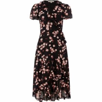 マイケル コース MICHAEL Michael Kors レディース ワンピース ラップドレス ワンピース・ドレス Ruffle Wrap Dress Black