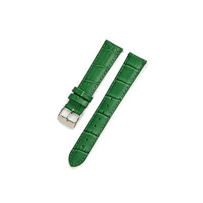 【新品・送料無料】CASSIS[カシス] カーフ 型押し 時計ベルト 裏面防水素材 AVALLON アバロン 18mm グリーン 交換用工具付き X1022238075