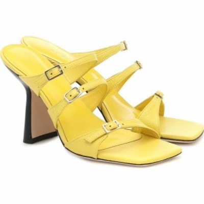 バイ ファー By Far レディース サンダル・ミュール シューズ・靴 Malene leather sandals Sunny