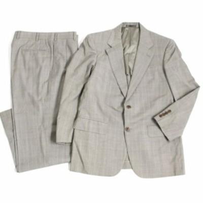 極美品□バーバリーロンドン チェック柄 シングルスーツ 上下セット ライトグレー 正規品 メンズオススメ◎
