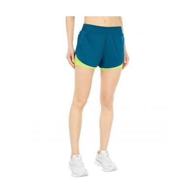 """Brooks ブルックス レディース 女性用 ファッション ショートパンツ 短パン Rep 3"""" 2-In-1 Shorts - Heather Deep Sea/Arctic"""