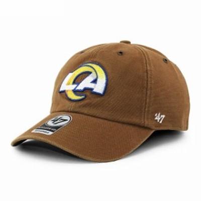 新品 47 Brand x カーハート Carhartt fx-lansd29dvs-bwa ロサンゼルス ラムズ CLEAN UP CAP キャップ BROWN ブラウン ヘッドウェア
