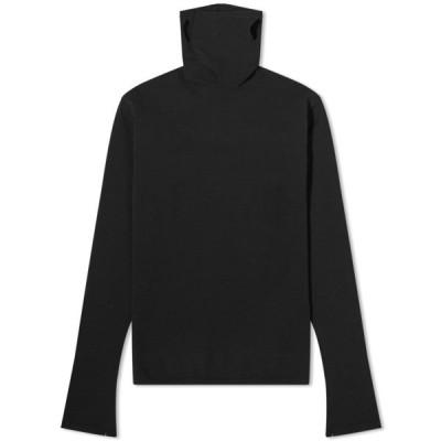 バレンシアガ Balenciaga メンズ ニット・セーター タートルネック マスク トップス Mask Turtle Neck Knit Black