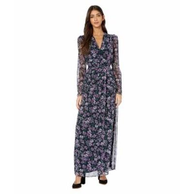 ワイフ レディース ワンピース トップス Celeste Long Sleeve Maxi Gown Aubergine Jasmine Floral