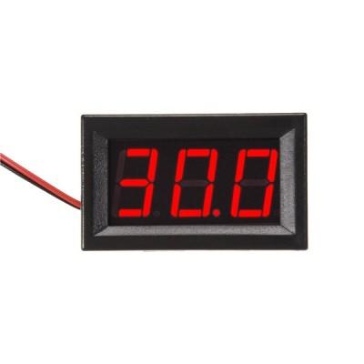 uxcell 電圧計 レッド DC 4.5-30V電圧計の範囲 2ワイヤ電圧テスター 1個入り