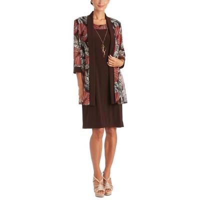 アールアンドエムリチャーズ レディース ワンピース トップス 2-Pc. Printed Jacket & Necklace Dress