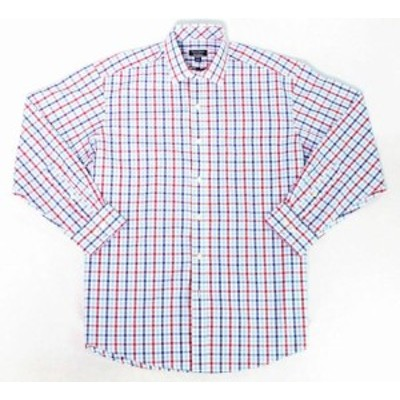 Plaid  ファッション ドレス Club Room Mens Dress Shirt Blue Size 18 1/2 Regular Fit Plaid Print