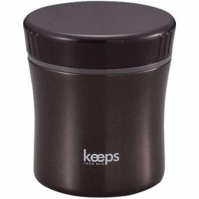 スープ ジャー 保温 保冷 フード マグ キープス(HB-272)(ブラック, 400ml)