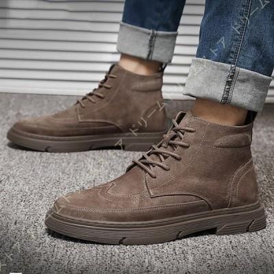 ブーツ メンズブーツ マウンテンブーツ ショートブーツ ワークブーツ メンズ アウトドア トレッキングシューズ 黒 茶 マーティンブーツ エンジニア 革靴