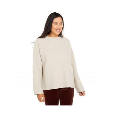 Eileen Fisher アイリーンフィッシャー レディース 女性用 ファッション セーター Lightweight Boiled Wool Funnel Neck Box Top - Maple Oat