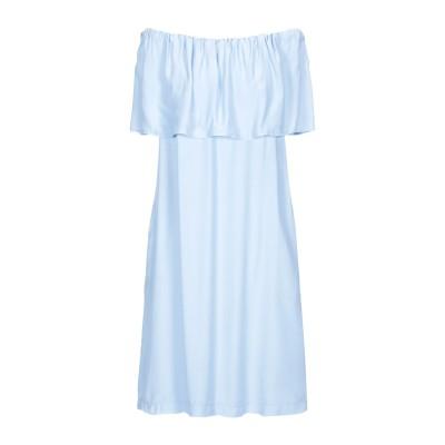 EUROPEAN CULTURE ミニワンピース&ドレス スカイブルー M 90% レーヨン 10% コットン ミニワンピース&ドレス