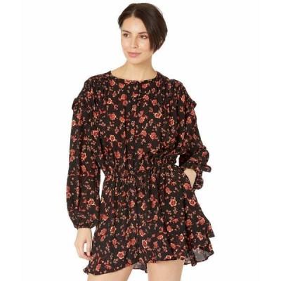 フリーピープル ワンピース トップス レディース Flower Fields Mini Dress Dark Combo
