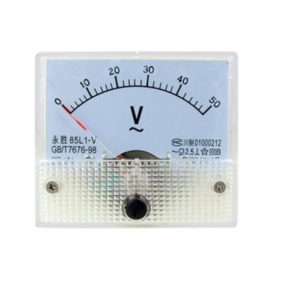 uxcell アナログ電圧計 アナログパネルゲージ電圧計 電圧メーターモデル85L1 AC 0-50V 矩形 クラス2.5