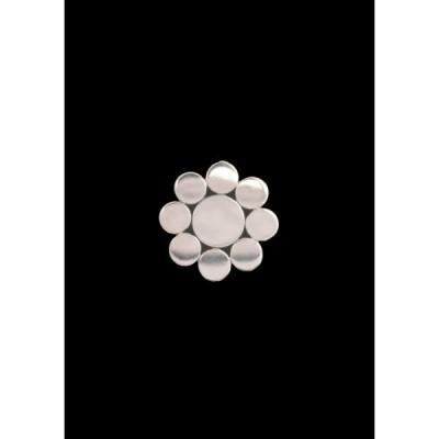 プラチナの九曜紋のペンダントヘッド(直径10mm)