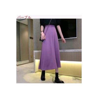 【送料無料】夏 気質紫 カラー スカート 女の子の長いセクション ドレープ ハイウエ | 346770_A62762-0813325