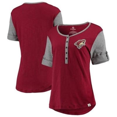 ファナティクス ブランデッド レディース Tシャツ トップス Arizona Coyotes Fanatics Branded Women's True Classics Henley T-Shirt