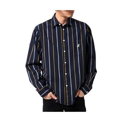 [カンゴール] シャツ メンズ ロゴ 刺繍 カジュアルシャツ 長袖 柄A M