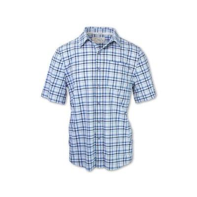 パーネル Purnell メンズ ハイキング・登山 トップス 4-Way Stretch Quick Dry Plaid Shirt Blue Checkered Plaid