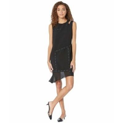 ニコルミラー レディース ワンピース トップス Grommet Dress w/ Cut Out Shoulder Black
