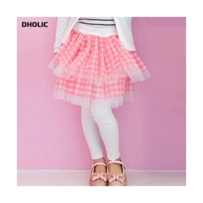 キッズ スカート チュチュ ティアード レギンススカート レギンス ズボン ボトムス パンツ かわいい 女の子 ガーリー チェック柄 子供 こども 子供服 こども服
