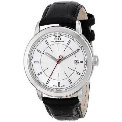 腕時計 88リュードゥローヌ 88 Rue Du Rhone メンズ 87WA120027 'ダブル 8' ブラック レザー 腕時計