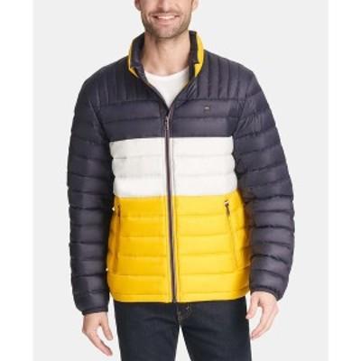 トミー ヒルフィガー メンズ ジャケット&ブルゾン アウター Men's Down Quilted Packable Puffer Jacket Yellow Navy