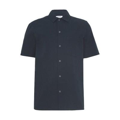 ウィークデイ シャツ メンズ トップス UNISEX BARRY SHORTSLEEVE  - Shirt - navy