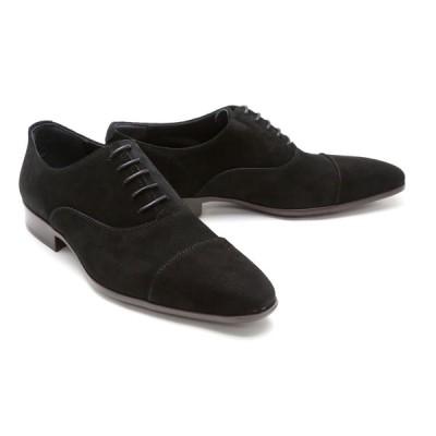 ビジネスシューズ ストレートチップ キャップトゥ メンズ 革靴 本革 クインクラシコ ドレスシューズ 26010bk ブラック(黒) キャップトゥラバーソール