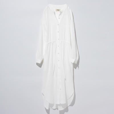 コットンガーゼ羽織りワンピース〈ホワイト〉 MEDE19F フェリシモ FELISSIMO