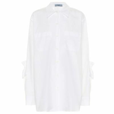 プラダ Prada レディース ブラウス・シャツ トップス Cotton-poplin shirt Bianco