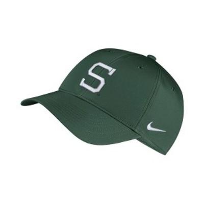 ナイキ メンズ 帽子 アクセサリー Michigan State Spartans Dri-Fit Adjustable Cap DarkGreen