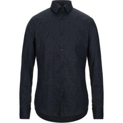 エン アヴァンセ EN AVANCE メンズ シャツ トップス patterned shirt Dark blue