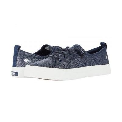 Sperry スペリー レディース 女性用 シューズ 靴 スニーカー 運動靴 Crest Vibe Sparkle Textile - Navy