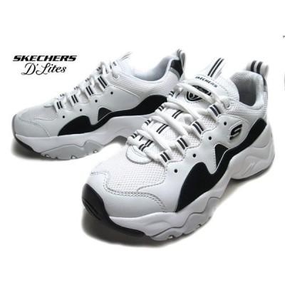 スケッチャーズ SKECHERS 12955 D'LITES 3.0 ZENWAY 厚底スニーカー ホワイトブラック レディース 靴