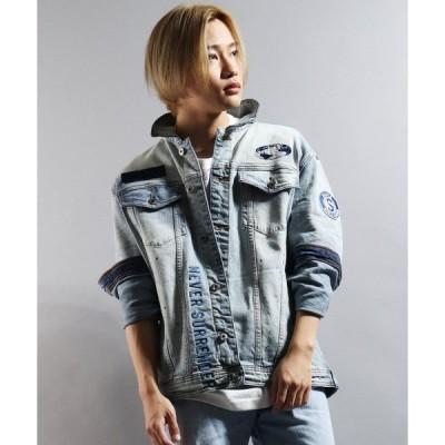 ジャケット Gジャン 【STAPLE】オリジナルロゴ刺繍 ワッペン デニムジャケット Gジャン
