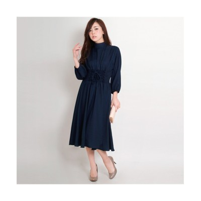 MARTHA(マーサ) シャーリングウェストワンピース (ワンピース)Dress