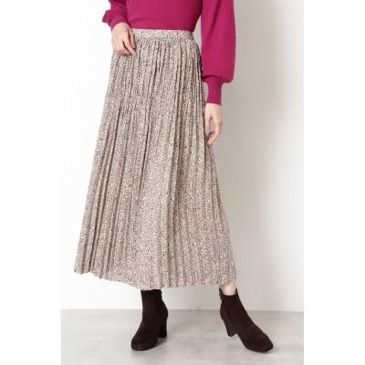 【ナチュラルビューティーベーシック/NATURAL BEAUTY BASIC】 [洗える]プリントプリーツスカート