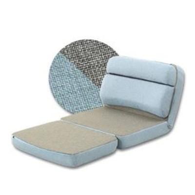 ds-2330501 3WAY コンパクト 座椅子/パーソナルチェア 【ライトブルー×グレー 1人掛け】 幅70cm スチールパイプ リクライニング 日本製