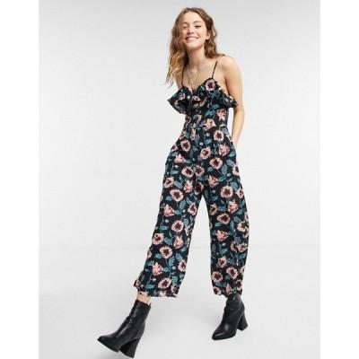 ロリーアンドホリー Lottie And Holly レディース オールインワン ジャンプスーツ ワンピース・ドレス cami strap jumpsuit in floral print マルチカラー