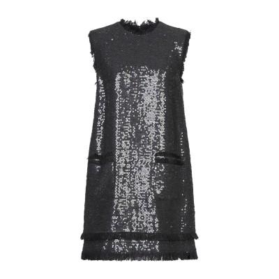エムエスジーエム MSGM ミニワンピース&ドレス ブラック 40 コットン 90% / レーヨン 10% ミニワンピース&ドレス
