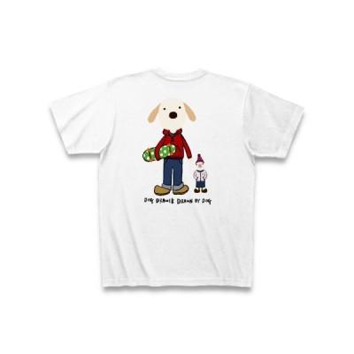 ラブラドール×文鳥 Tシャツ(ホワイト)
