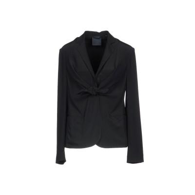アスペジ ASPESI テーラードジャケット ブラック 44 100% シルク テーラードジャケット
