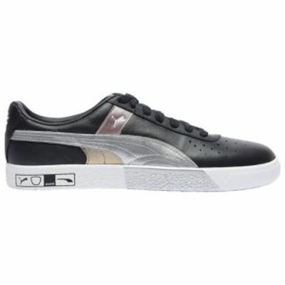 (取寄)プーマ メンズ シューズ プーマ クライド ハックト Perf トゥー  Men's Shoes PUMA Clyde Hacked Perf Toe  Black Metallic Silver