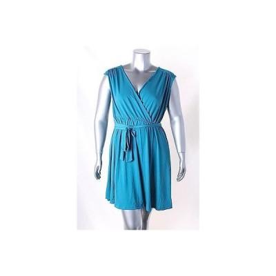 ニューヨークコレクション ドレス ワンピース フォーマル Ny コレクション ブルー Cap スリーブ Belted A Line ドレス サイズ L 60LAFO