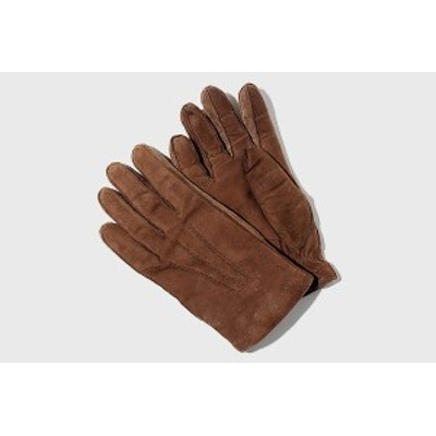【中古】ALPO アルポ スタンダード レザー グローブ 手袋 7 1/2 BROWN 茶色/◆ メンズ